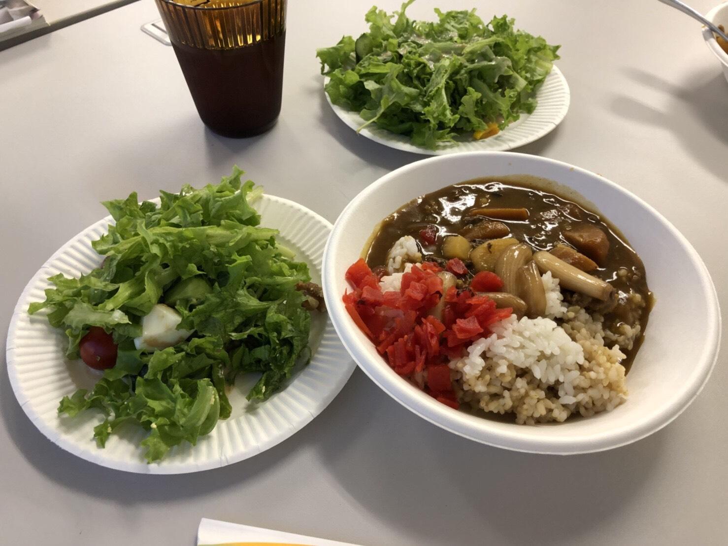 栽培した植物を使用した食事会のメニュー
