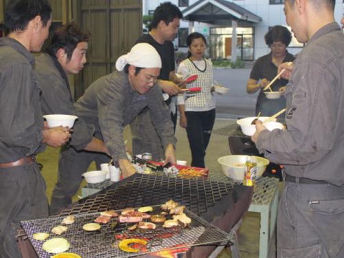 本社工場内BBQ